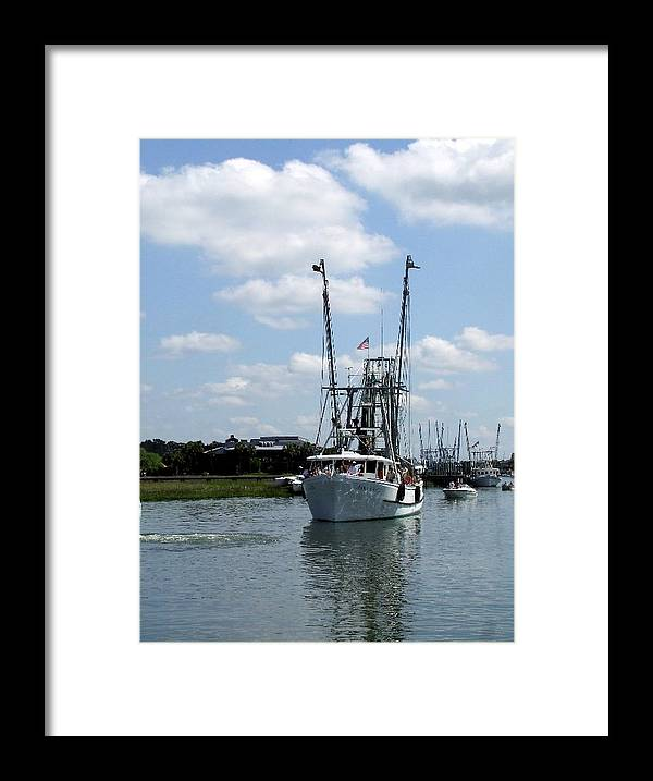 Boat Framed Print featuring the photograph Anna Grace Too by Ted Putman
