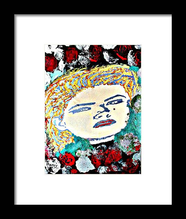 Girl Framed Print featuring the painting Anna Nicole by Christopher Thames