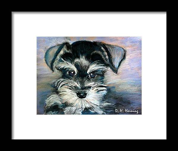 Portrait Framed Print featuring the painting Annabelle by David Horning