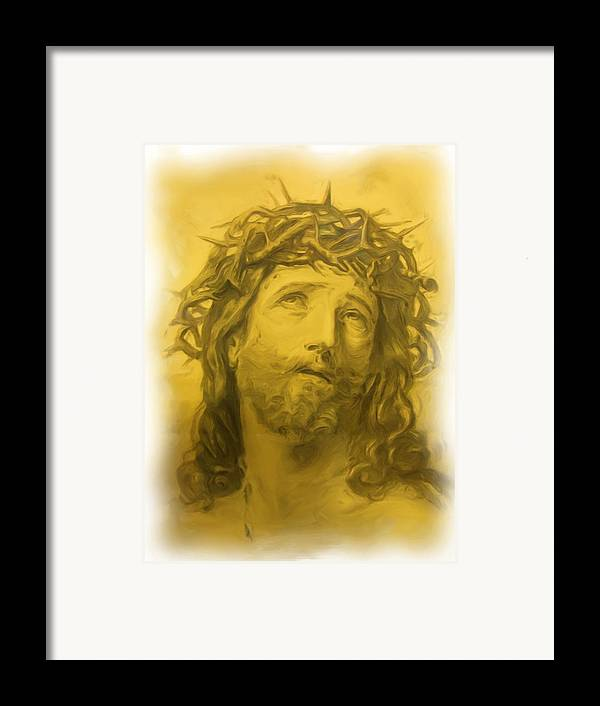 Framed Print featuring the painting Anne Anastasi Christ Pencil by Jonathan Galente