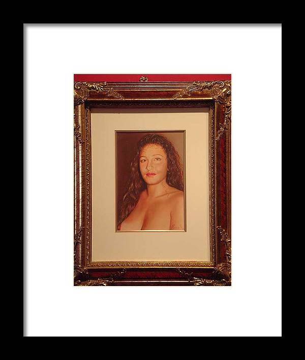 Nudes Framed Print featuring the painting Annie 10-2 by Benito Alonso