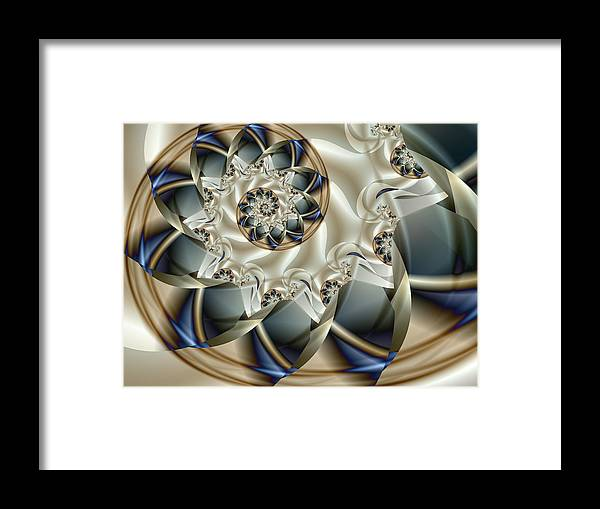 Fractal Framed Print featuring the digital art Anniversary by Vicky Brago-Mitchell