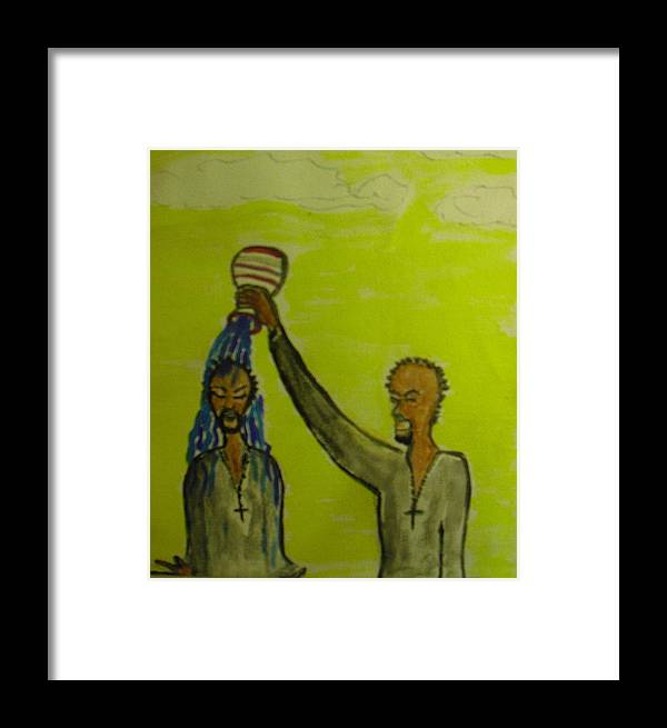 Christian Art Framed Print featuring the painting Anointed Again by Troix Johnson