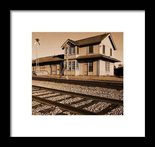 Train Framed Print featuring the photograph Another Bygone Era by Dennis Campbell