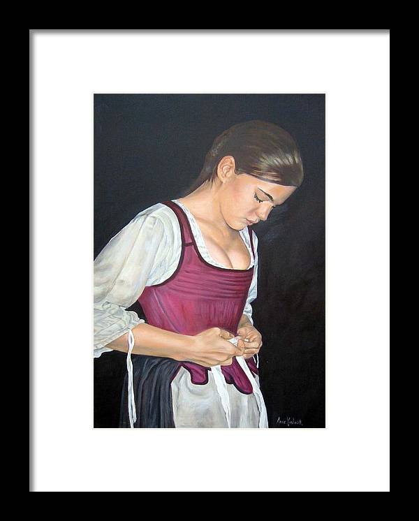 Portrait Framed Print featuring the painting Another Day by Anne Kushnick