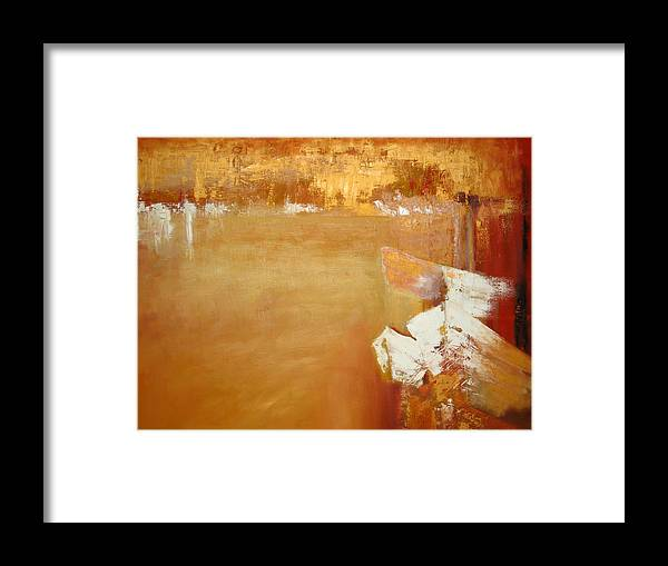 Boats Framed Print featuring the painting 'another Day' by Marina Harris