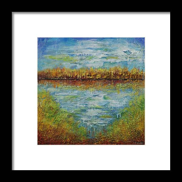 Water Framed Print featuring the painting Another Lake. by Evgenia Davidov