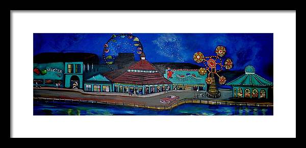 Asbury Art Framed Print featuring the painting Another memory of the Palace by Patricia Arroyo