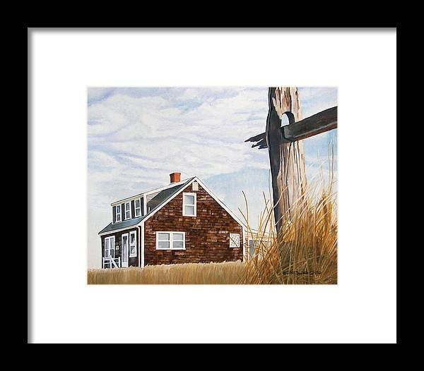 Landscape Framed Print featuring the painting Another New England Sunrise by Dominic White