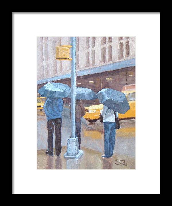 Impressionism Landscape Framed Print featuring the painting Another Rainy Day by Tate Hamilton