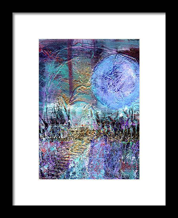 Surreal Framed Print featuring the painting Another World by Wayne Potrafka