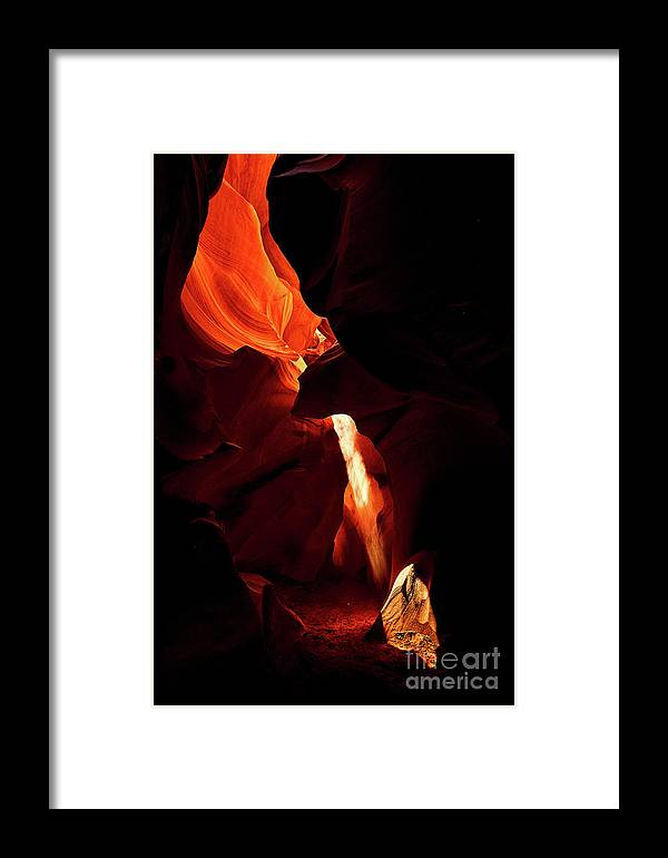 Antelope Framed Print featuring the photograph Antelope Canyon #3 by Stanton Tubb