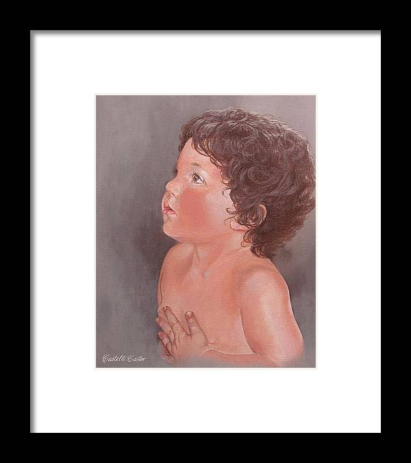 Children Framed Print featuring the painting Anthony Leonard by JoAnne Castelli-Castor