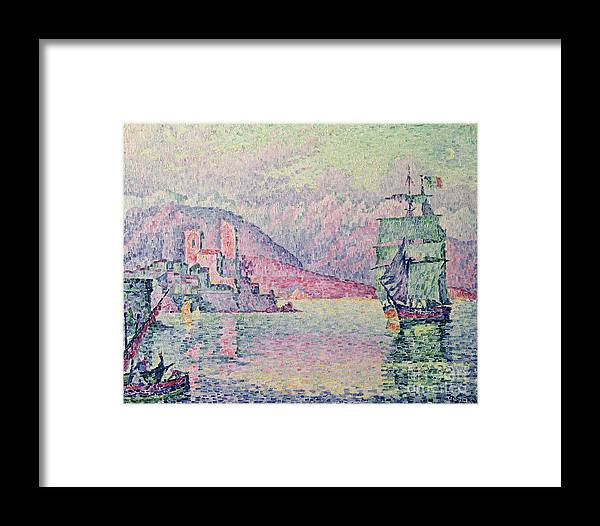 Antibes Framed Print featuring the painting Antibes by Paul Signac