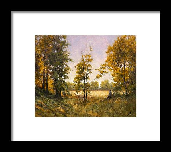 Artist Framed Print featuring the painting Anticipation by Jim Gola