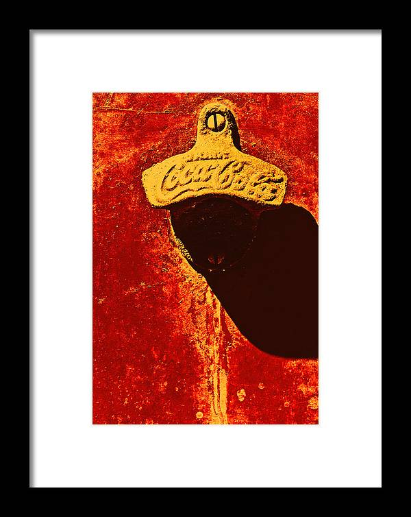 Antique Ice Box Framed Print featuring the photograph Antique Bottle Opener 3 by Stephen Anderson