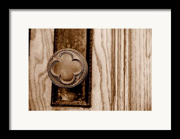 Doorknob Framed Print featuring the photograph Antique Doorknob by Caroline Clark