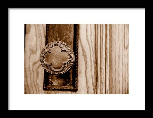 Doorknob Framed Print featuring the photograph Antique Doorknob by Caroline Clark