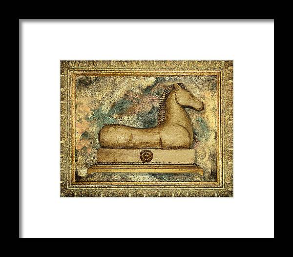 Equine Framed Print featuring the painting Antique Equine by Carol Peck