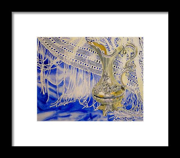 Lace Framed Print featuring the painting Antique Lace by Terry Honstead