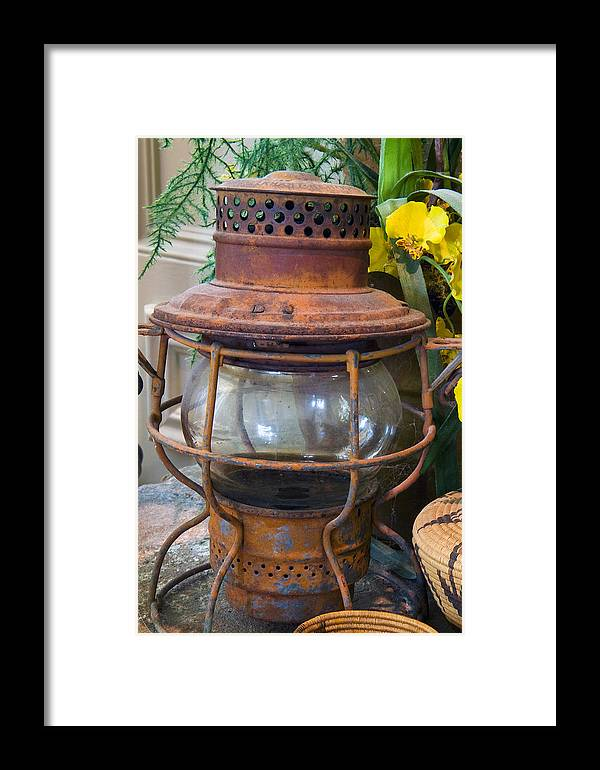 Lantern Framed Print featuring the photograph Antique Lantern by Stephen Anderson