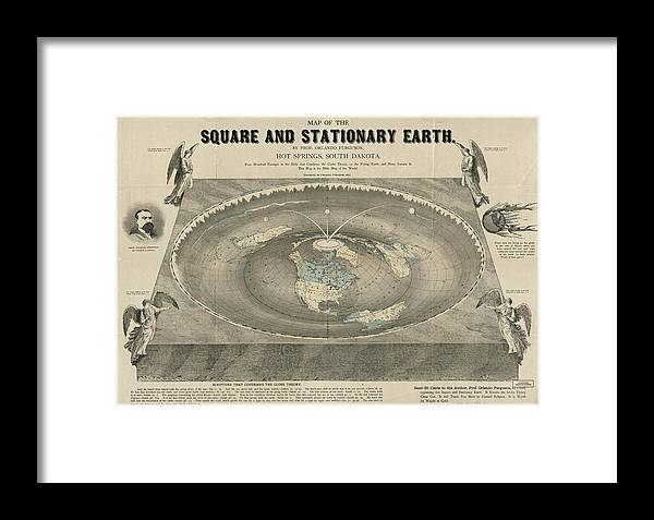 Square Earth Map.Antique Maps Old Cartographic Maps Antique Map Of The Square And