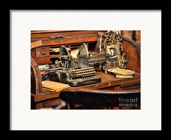 Paul Ward Framed Print featuring the photograph Antique Typewriter by Paul Ward