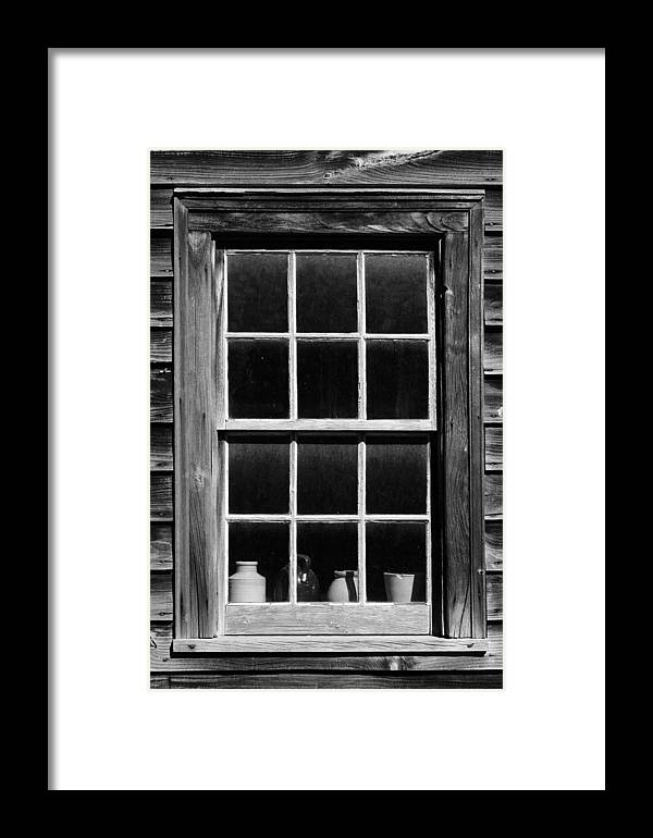 Window Framed Print featuring the photograph Antique Window With Pottery by Levin Rodriguez