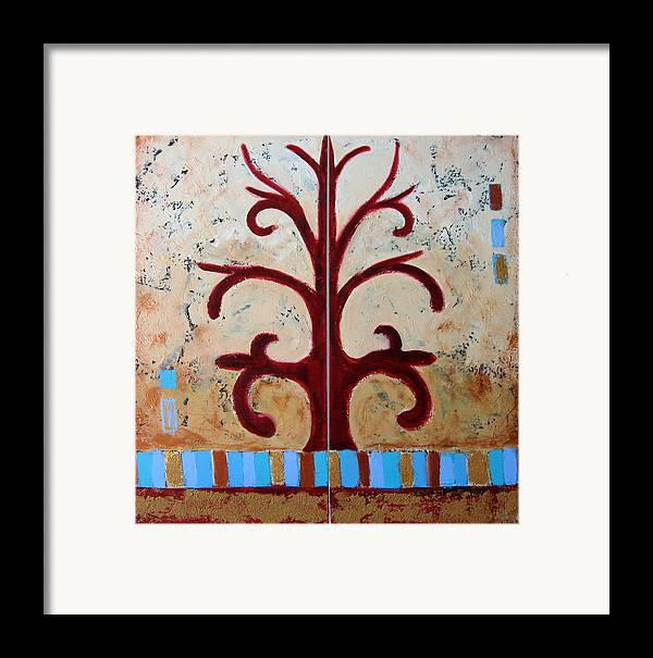 Tree Framed Print featuring the painting Antiquity by Aliza Souleyeva-Alexander