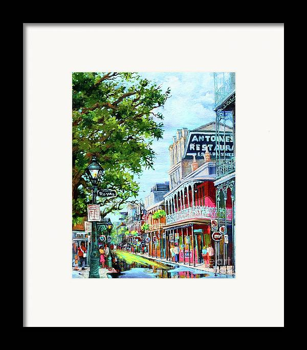 New Orleans Art Framed Print featuring the painting Antoine's by Dianne Parks