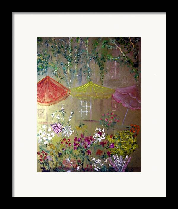 Flowers Framed Print featuring the painting Antoinette's Flowers by Michela Akers