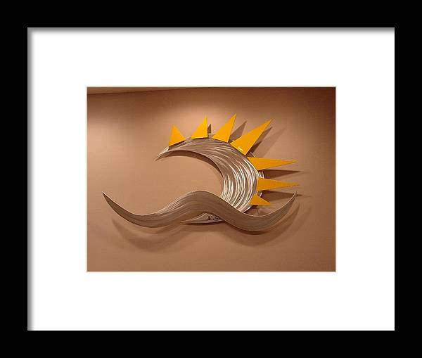 Aluminum Framed Print featuring the sculpture Anu by Mac Worthington
