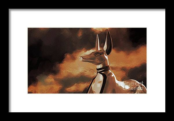 Anubis, God Of Egypt Framed Print