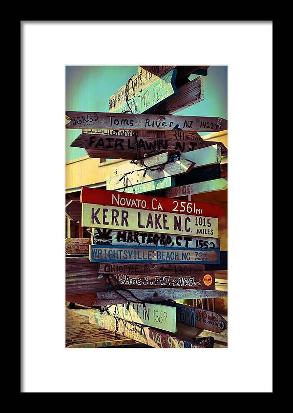 Key Framed Print featuring the photograph Any Destination by JAMART Photography