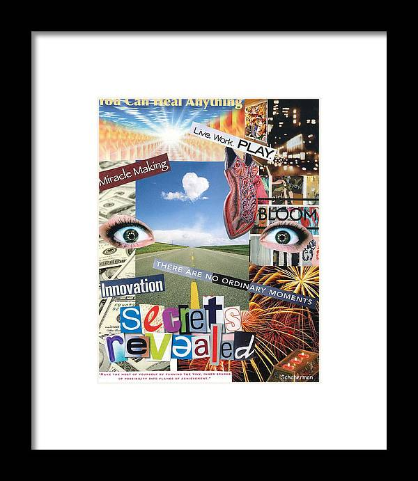 Collage Art Framed Print featuring the mixed media Anything Goes by Susan Schanerman