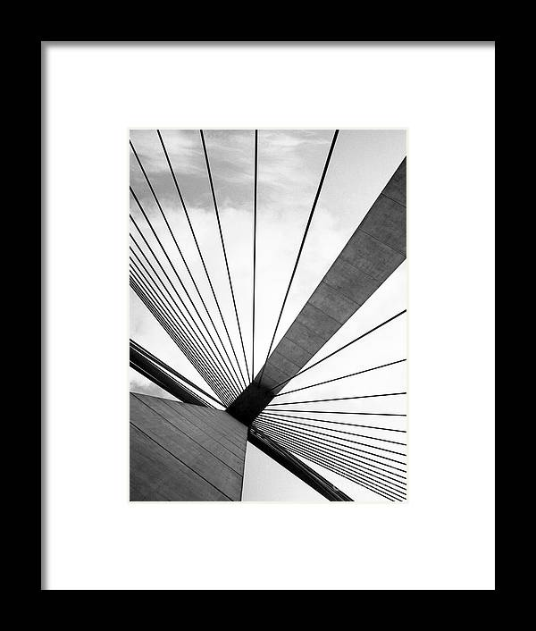 Abstract Framed Print featuring the photograph Anzac Bridge by Elizabeth McPhee