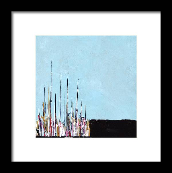 Abstract Framed Print featuring the painting Aobmpl 001 by L Lange