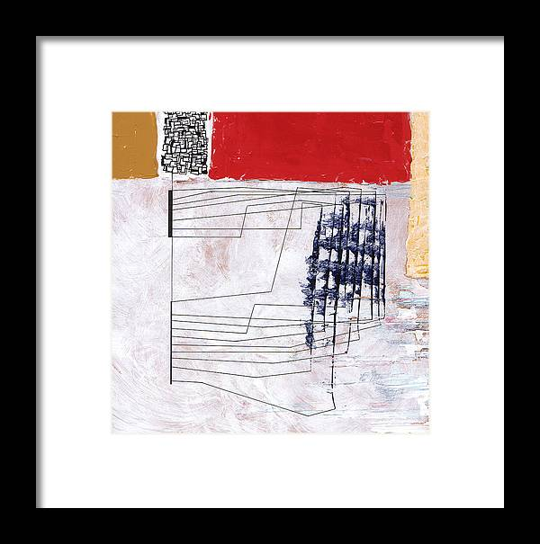 Abstract Framed Print featuring the painting Aobmpl 002 by L Lange