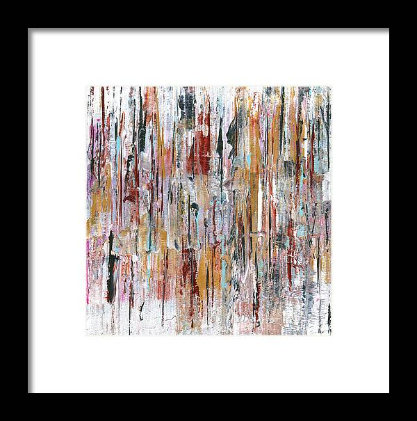 Abstract Framed Print featuring the painting Aobmpl 028 by L Lange