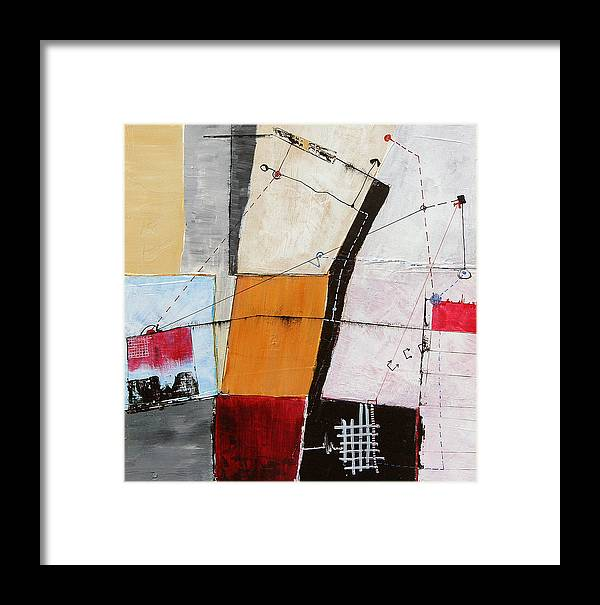 Abstract Framed Print featuring the painting Aobmpl 035 by L Lange
