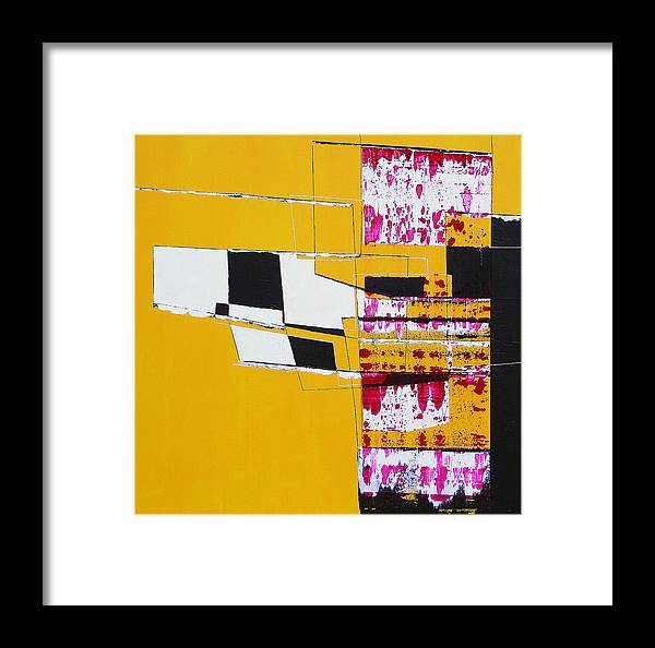 Abstract Framed Print featuring the painting Aoc 015 by L Lange