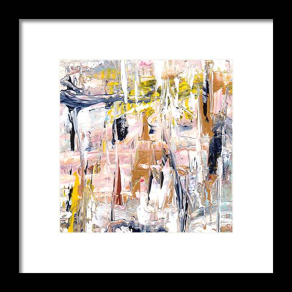 Abstract Framed Print featuring the painting Aop 81 by L Lange
