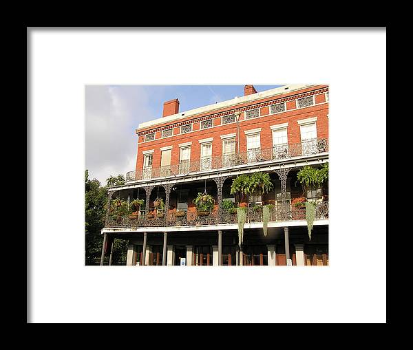 New Orleans Framed Print featuring the photograph Apartments French Quarter by Jack Herrington