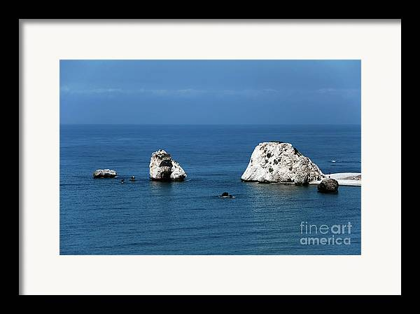 Rocks Framed Print featuring the photograph Aphrodite's Rocks by John Rizzuto