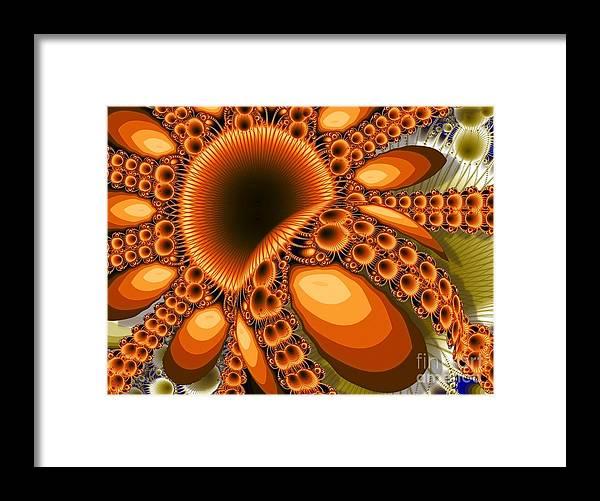 Honey Bee Framed Print featuring the digital art Apis Dorsata by Ron Bissett