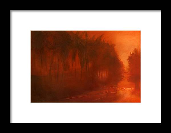 Landscape Framed Print featuring the painting Apocalypse Dawn by Paulo Sabado