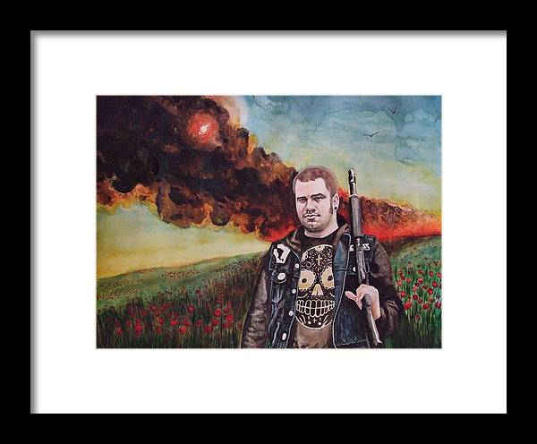 Watercolor Framed Print featuring the painting Apocalyptic Bliss by Chris Slaymaker