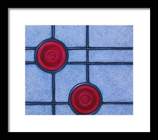 Circles Framed Print featuring the painting Apogee by Don Mullins