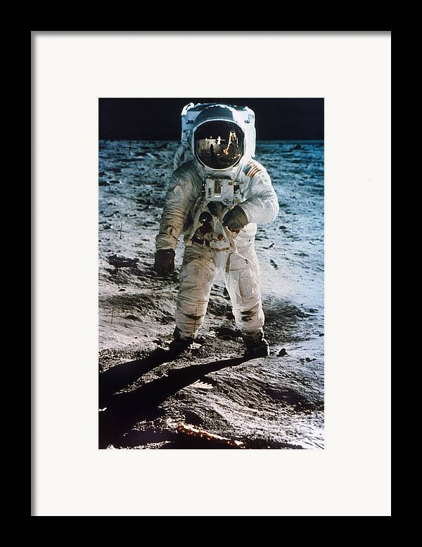 1969 Framed Print featuring the photograph Apollo 11: Buzz Aldrin by Granger