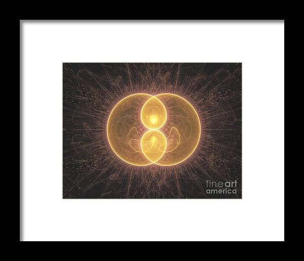 Fractal Framed Print featuring the digital art Apophysis 2 by Erik Winbo